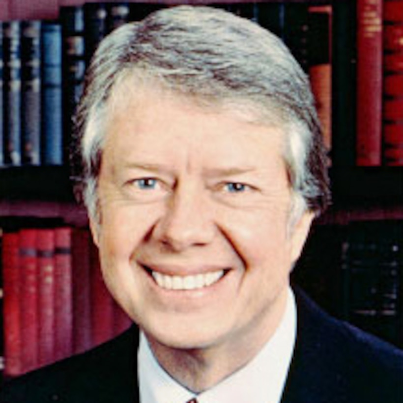 A graphic of President Jimmy Carter