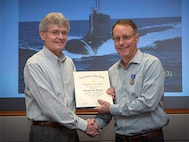 NUWC Division Newport engineer receives DON Meritorious Civilian Service Award