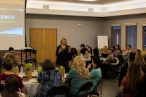 The purpose of the event was to provide military spouses the same resiliency tools military members receive.