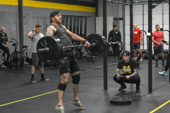 Capt. John Murphy doing on working hard during the U.S. Army Warrior Fitness Team Tryouts.