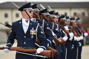 The U.S. Air Force Honor Guard Drill Team