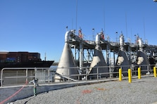 Photo of the Speece cones at the Hutchinson Island Dissolved Oxygen Plant.
