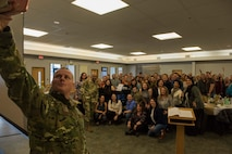 During his visit, Brown talked about the future of Eielson to include the arrival of the F-35 Lightning II and also the future of the Joint Pacific Alaska Range Complex.