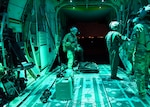 U.S. Air Force Airmen prepare for routine nighttime forward area refueling training at Davis-Monthan Air Force Base, Ariz., Oct. 4, 2018. FARP training prepares Airmen to effectively refuel aircraft in austere locations when air-to-air refueling is not possible or when fueling stations are not accessible. (U.S. Air Force photo by Airman 1st Class Kristine Legate)