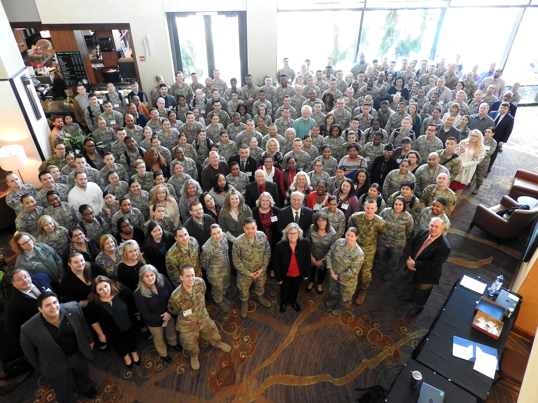 Nearly 300 Air Force financial service technicians and operators received training during the Air Force Financial Operations Workshop in San Antonio, Texas, Feb. 11-15. The workshop focused specifically on training in 17 finance customer service topics.