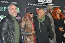 "From left to right, actors Titus Welliver, Wesley Snipes, Laurence Fishburne and Bill Duke, along with a guest, pose for a picture on the Red Carpet during ""Excelsior! A Celebration of the Amazing, Fantastic, Incredible and Uncanny Life of Stan Lee"" Jan. 30 at the TCL Chinese Theatre in Hollywood, California. The event was a memorial tribute to Stan Lee, Marvel comic book writer, editor, publisher and producer, who died in November 2018. Lee was an Army veteran and former writer in the U.S. Army Signal Corps during World War II."