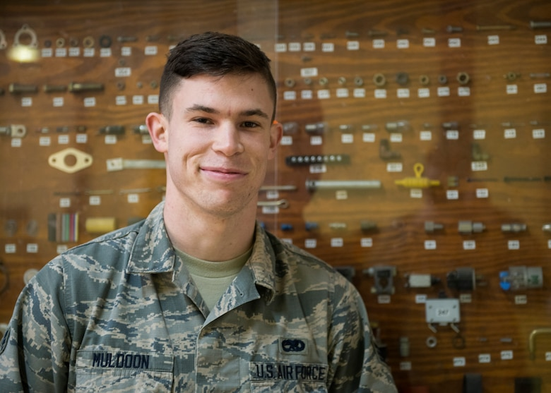 U.S. Air Force Senior Airman Zachary Muldoon, 39th Maintenance Squadron aerospace ground equipment maintainer, poses for a photo Jan. 31, 2019, at Incirlik Air Base, Turkey.