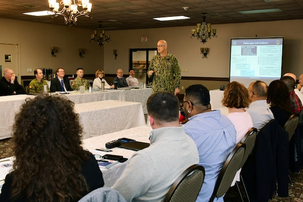 DLA Distribution Commanding Officer addresses DLA Distribution Susquehanna, Pennsylvania leadership