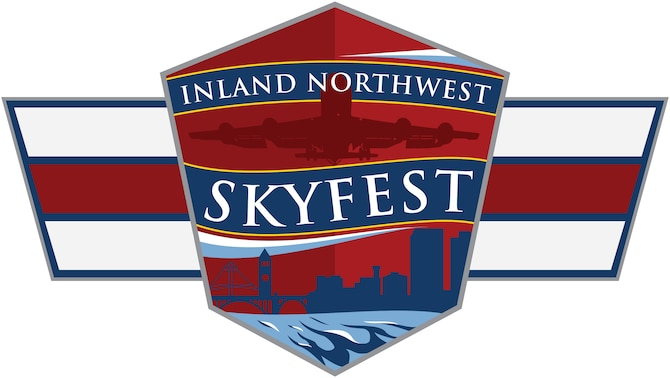 Team Fairchild is scheduled to host the free 2019 Inland Northwest SkyFest Airshow and Open House at Fairchild Air Force Base, Washington, June 22, 2019. Patrons of the air show will be able to enjoy static display aircraft, interactive exhibits, live music featuring the U.S. Air Force's Band of the Golden West, food and much more. (U.S. Air Force graphic/Master Sgt. John Ayre)