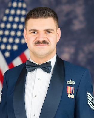 Official photo of Technical Sgt. Cagdas Donmezer, Pianist with The United States Air Force Band, Joint Base Anacostia-Bolling, Washington, D.C.