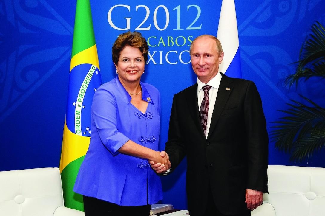 Los Cabos - México, 18/06/2012. Presidenta Dilma Rousseff durante encontro com o presidente da Federação Russa, Vladimir Putin. Foto: Roberto Stuckert Filho/PRLicensed under Creative Commons Attribution 2.0 Generic License. Photo unaltered.