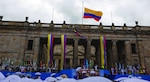 Iván Duque assumes the Presidency; August 7, 2018 at the Bolivar Square in Bogota, Colombia.(Presidency of the Mexican Republic)Licensed under Creative Commons Attribution-ShareAlike 4.0 International License. Photo produced unaltered.