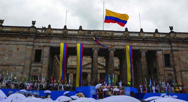 Iván Duque assumes the Presidency; August 7, 2018 at the Bolivar Square in Bogota, Colombia.(Presidency of the Mexican Republic)