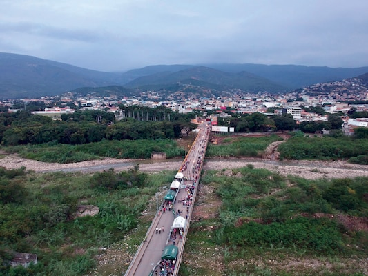 Thousands of Venezuelans have fled to Colombia, straining the Colombian government's ability to police its 1,300 mile border. Reproduced with permission from Moises Rendon, Associate Director and Associate Fellow, Americas Program at the Center for Strategic and International Studies.