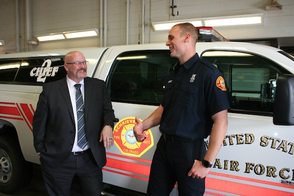 Air Force Fire Chief visits Schriever