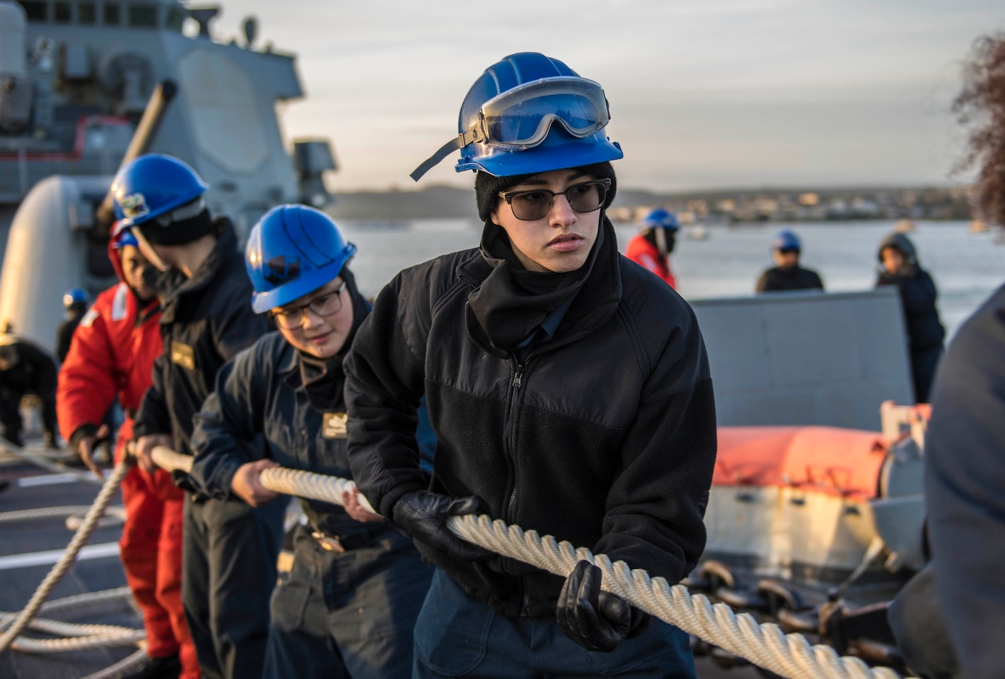 USS Porter Departs Plymouth