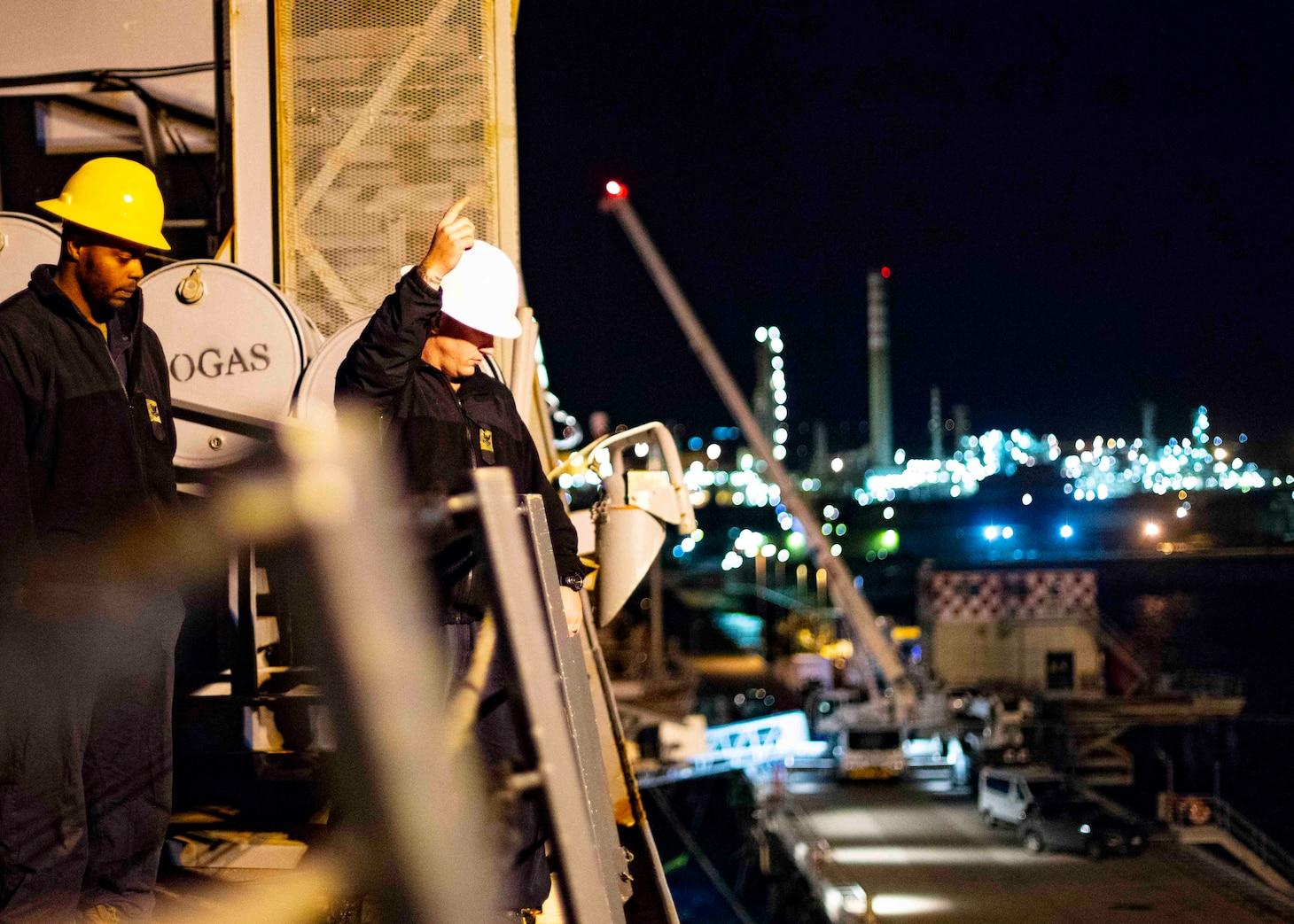 USS Arlington Arrives at Augusta Bay
