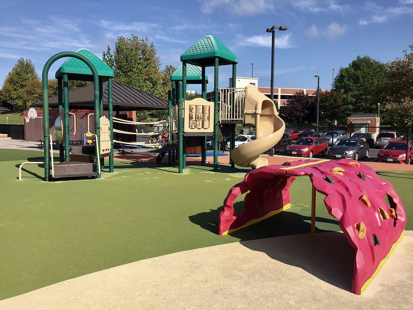 Playgrounds at DLA Child Development Centers are designed to help children advance their large motor skills.