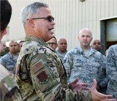 156th Wing Commander Col. Raymond Figueroa shares his 2019 priorities at Muniz Air National Guard Base, Carolina.
