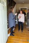 The Honorable Mrs. Phyllis L. Bayer, center, assistant secretary of the Navy for energy, installations and the environment tours privatized military housing with a spouse during a visit to Marine Corps Base Camp Lejeune, North Carolina, Feb. 15, 2019. Bayer visited MCB Camp Lejeune residential communities to assess on going restoration efforts on the installation. (U.S. Marine Corps photo by Lance Cpl. Isaiah Gomez)