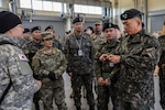 Maj. Gen. Sung, Il, deputy chief of staff, G4, for the ROK Army provides insight to U.S. and ROK Army leaders during the 123rd Brigade Support Battalion