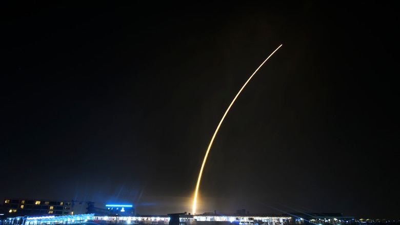 SpaceX's Falcon 9 rocket PSN VI launches from Cape Canaveral Air Force Station, Fla., Feb. 21, 2019. The satellite will provide communication and internet services to Indonesia and Southeast Asia. (U.S. Air Force photo by Airman 1st Class Zoe Thacker)