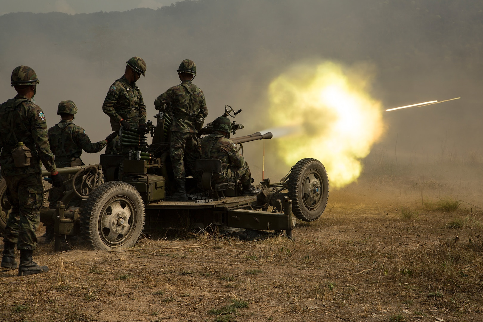 Thai-U.S. Combined Arms Live-Fire Exercise Concludes Cobra Gold 19