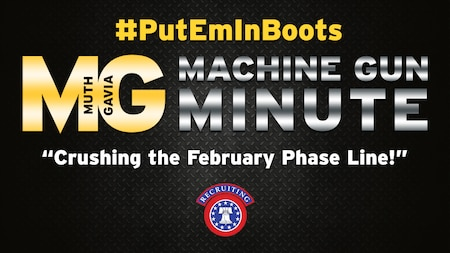 Maj. Gen. Frank Muth, commanding general, U.S. Army Recruiting Command and Command Sgt. Maj. Tabitha Gavia, command sergeant major of U.S. Army Recruiting Command, have a message for you about the results for the February phase line and the upcoming #TopStationCommander Incentive Ceremony.