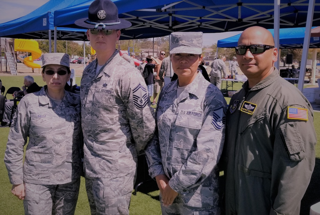 Master Sgt. Sofia Ronquillio, 349th Air Mobility Wing Reserve superintendent of the Travis Air Force Base Honor Guard.