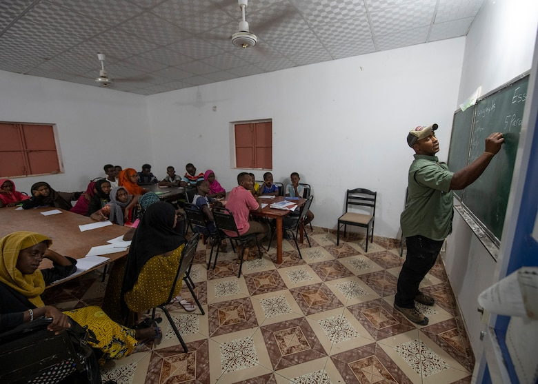 Civil affairs Soldiers continue tradition in Tadjourah with Centre De Femmes empowerment center