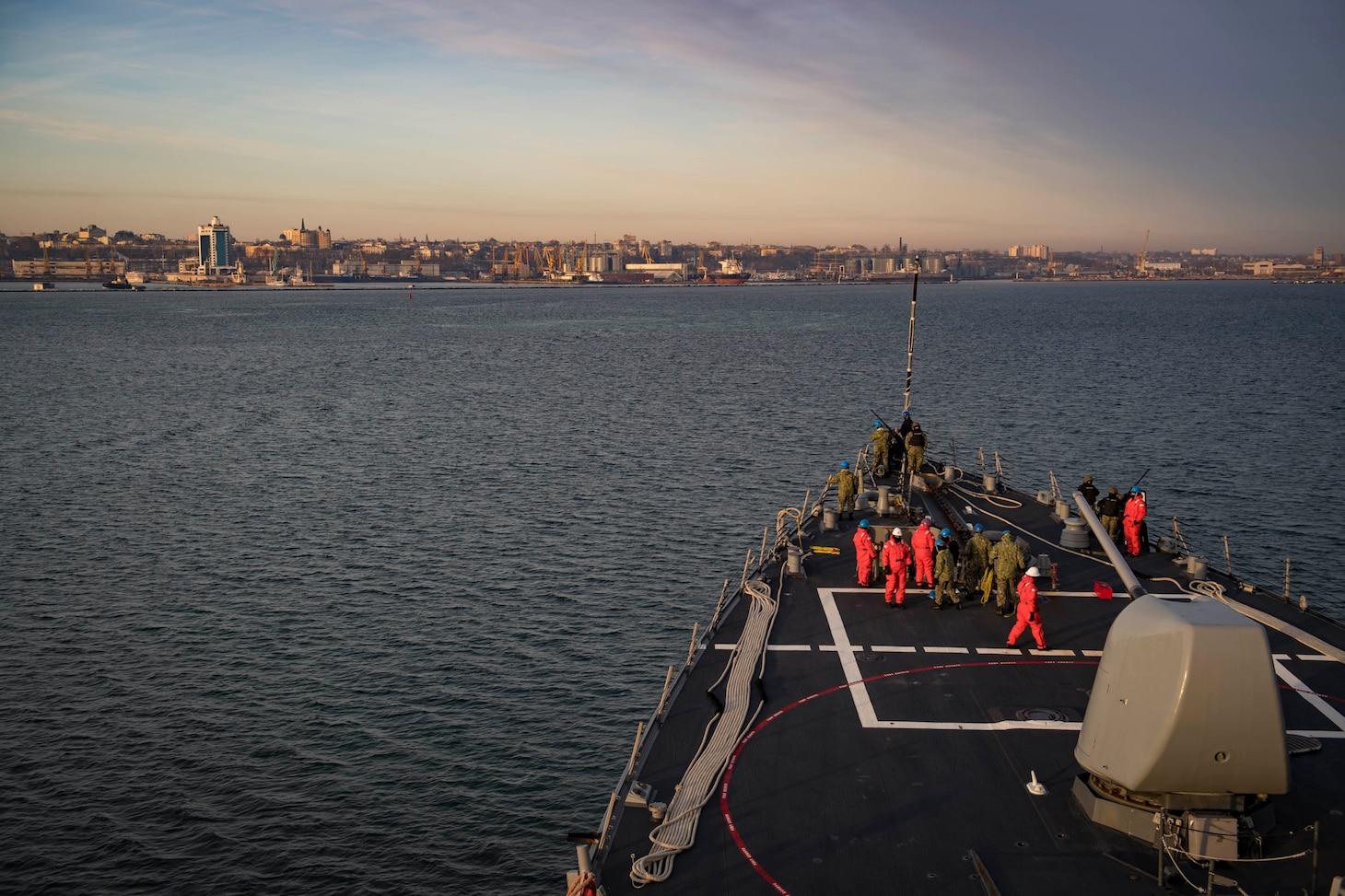 USS Donald Cook Arrives in Odesa, Ukraine