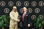 Chancellor Tom Wingfield and Egyptian Major General Tarek Elsayed Abdou (Chief of Foreign Mission, Training Authority) held a meeting at CIC to discuss areas of collaboration.