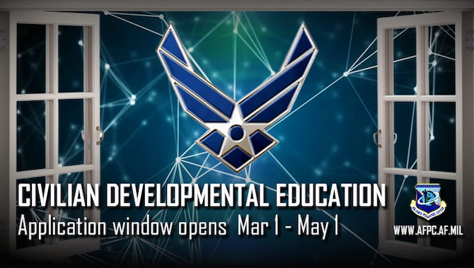 Developmental Education application window opens Mar 1 through May 1, for civilians.