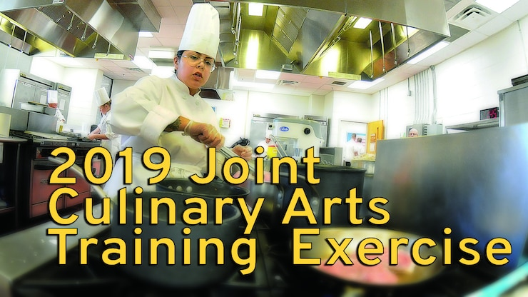 Spc. Jasmine Ruiz toils over a stove during 2018 Joint Culinary Training Exercise. Army culinary specialists have the opportunity to share knowledge between the Army installations, other military services and the international armed forces in attendance. The sharing of techniques and information allows for a variety of meal options and styles. The annual exercise is administered by the Joint Culinary Center of Excellence, Fort Lee, Va.