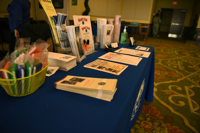 Airman and Family Readiness Center pamphlets are displayed on a booth during the Keesler Housing Review Open House inside the Bay Breeze Event Center at Keesler Air Force Base, Mississippi, Feb. 25, 2019. The open house gave military members and their families a chance to voice their housing concerns to leadership. (U.S. Air Force photo by Airman 1st Class Suzie Plotnikov)
