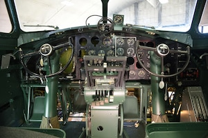 DAYTON, Ohio -- The Boeing B-17F Memphis Belle cockpit undergoing restoration on March 6, 2018 at the National Museum of the U.S. Air Force's restoration hangar. (U.S. Air Force photo by Ken LaRock)