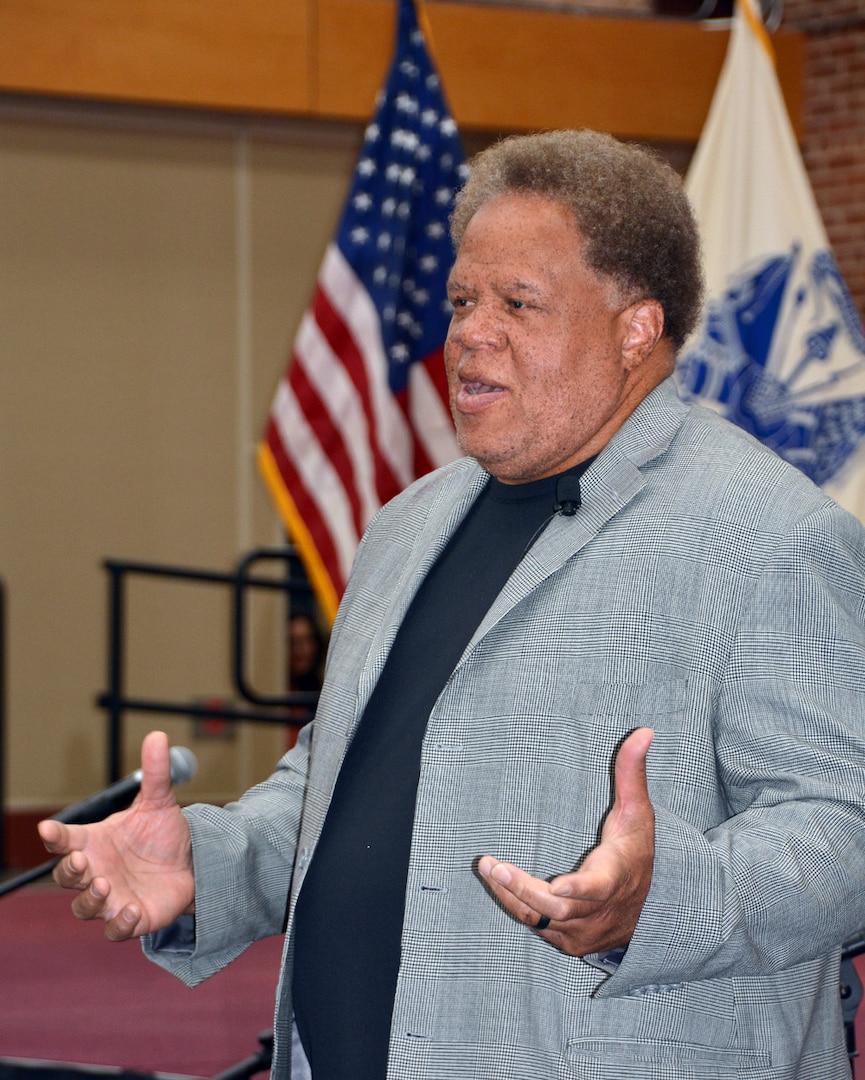 Former NFL executive speaks during Black History Month program on DSCR