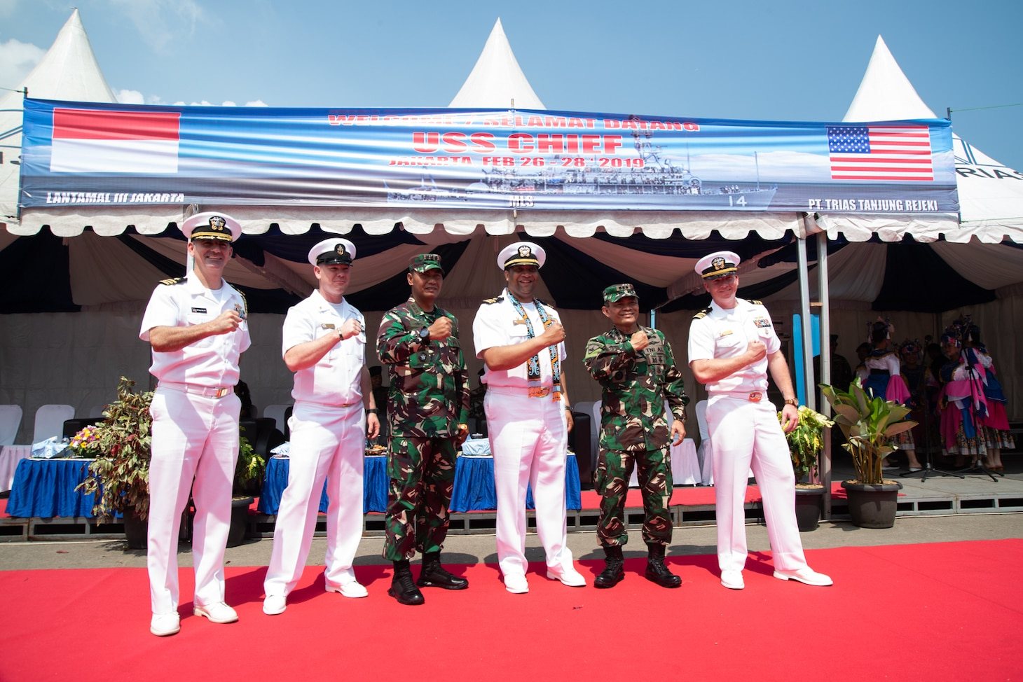Chief is visiting Jakarta while operating in U.S. 7th Fleet to work with their Indonesian Navy (TNI-AL) counterparts to strengthen regional security and stability, and enhance interoperability.