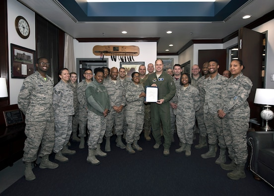 U.S. Air Force Brig. Gen. John Nichols, the 509th Bomb Wing commander, signed a proclamation on Feb. 1, 2019, declaring the month of February Black History Month at Whiteman Air Force Base, Missouri. Unfortunately, due to weather the events scheduled for this month were cancelled. However, members of the African American Heritage Association (AAHA) host events throughout the year to highlight the cultural impacts of African Americans throughout history. For more information about AAHA and how to get involved, email their organization box at 509FSS.FSMM.AAHC@us.af.mil. (U.S. Air Force photo by Staff Sgt. Danielle Quilla)