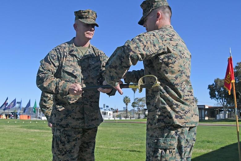 MCTSSA sergeant major passes the sword