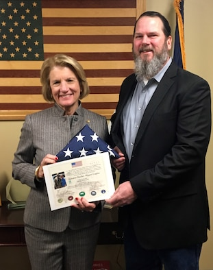 U.S. flag flown in Afghanistan presented to WV Senator
