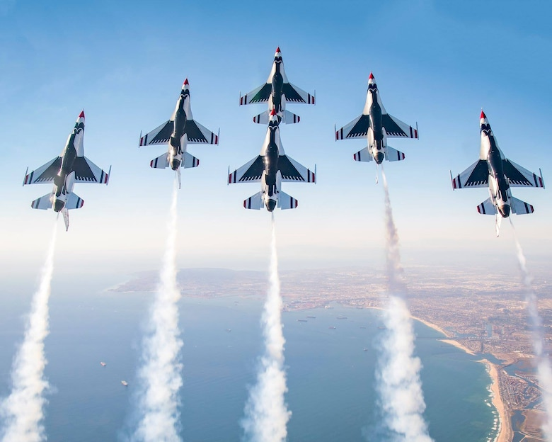 U.S. Air Force Thunderbirds F-16s.