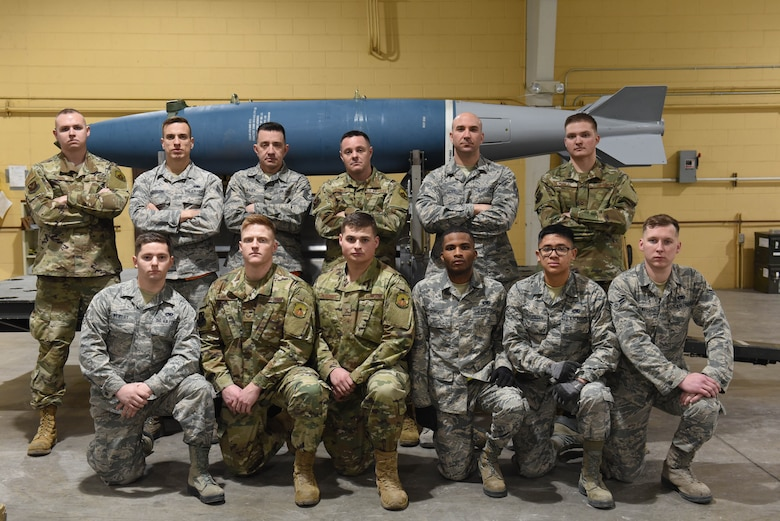 A 28th Munitions Squadron team won the Air Force Combat Operations Competition for U.S. Air Force Global Strike Command on Feb. 19, 2019. The team, assigned to Ellsworth Air Force Base, S.D., will move on compete at the Air force-level in May. The competition is used to determine the best of the best in munitions operations. (U.S. Air Force photo by Airman John Ennis)
