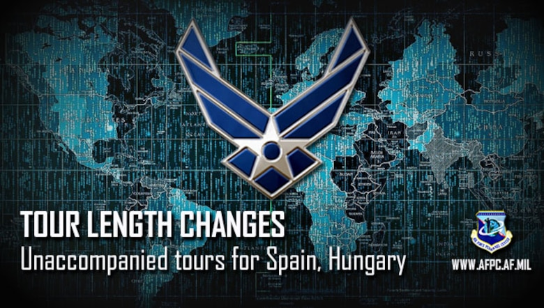 Air Force tour lengths change for two European locations
