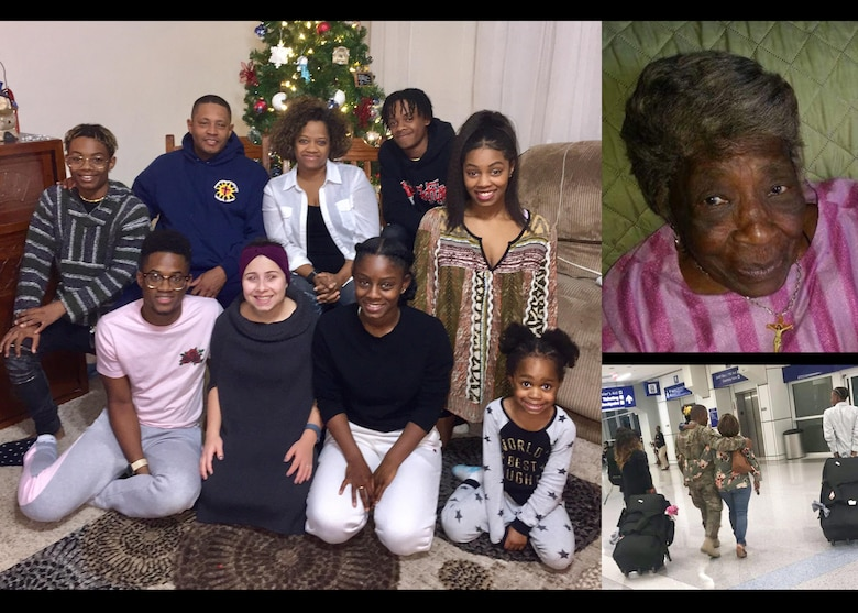 A collage of the family of U.S. Air Force Chaplain Lt. Col. Steve Dabbs, the wing Chaplin of the 97th Air Mobility Wing, Feb. 25, 2019, at Altus Air Force Base, Okla.