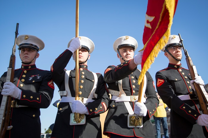 U.S. Marines, Sailors, Soliders, and the local community gather to visit booths and view demonstrations of the Marine Corps Martial Arts Program (MCMAP), Explosive Ordinance Disposal (EOD), and a military working dog demonstration during Yuma Military Appreciation Day in Downtown Historic Yuma on Feb. 16, 2019. Military Appreciation Day is held to show the importance of the relationship between the City of Yuma and our service members and veterans. (U.S. Marine Corps photo by Sgt. Allison Lotz)