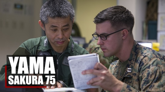 CAMP COURTNEY, Okinawa, Japan (Dec. 18, 2018) – U.S. Marines with 3D Marine Expeditionary Brigade and soldiers with the Japan Ground Self-Defense Force's Amphibious Rapid Deployment Brigade spent over a week advancing their operational capabilities, interoperability and partnership through exercise Yama Sakura 75 on Camp Courtney, Okinawa, Japan.