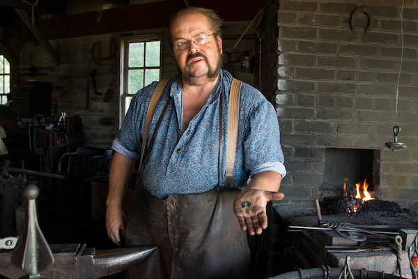 "Since the terrorist attacks on Sept. 11, 2001, Randy Dack, a blacksmith at Grand Island's Stuhr Museum in Nebraska, has made more than 4,000 ""lucky"" horseshoes for military service members worldwide. Dack made his first ""Soldier's shoe"" for his son prior to his first deployment in 2002 with the Nebraska Army National Guard's 1-134th Cavalry."