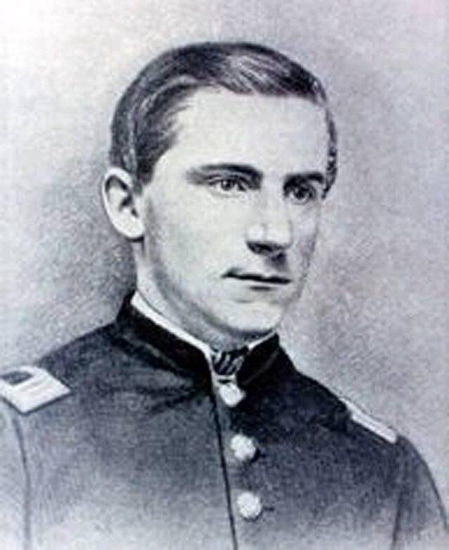 A black and white photo of George E. Davis