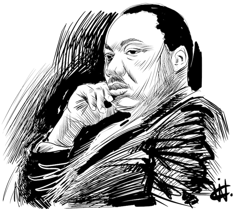 Martin Luther King Jr. - Illustration in Pen and ink